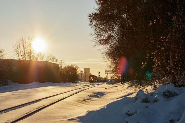 calm before the rumble Cold Temperature Snow Winter Nature Frozen Outdoors Cold Fujifilm Fujifilm_xseries All Day  Wanderlust Explore Railroad Locomotive NoDak Home Train Engine