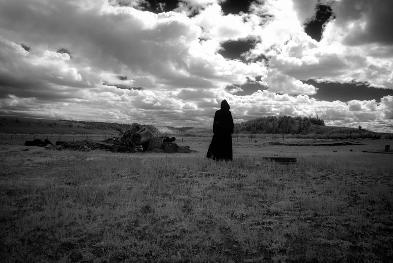 What Was (No. 1) Colorado Death Drama Dramatic Sky EyeEmNewHere Ghost Infrared Ranch Abandoned Blackandwhite Cloak Cloud - Sky Fantasy Field Haunted Landscape Monochrome Mystery One Person Rurex Scary Spooky Time Wide Open Spaces