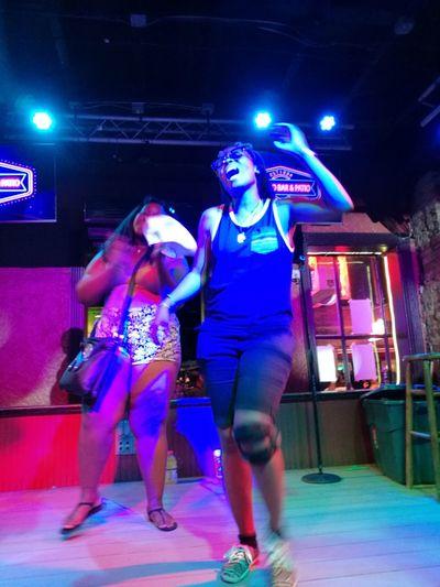 Nightlife Nightclub Night City Young Women Real People Dance DANCE ♥ Music NOLA NewOrleans Music New Orleans Bourbon Street TakeoverMusic