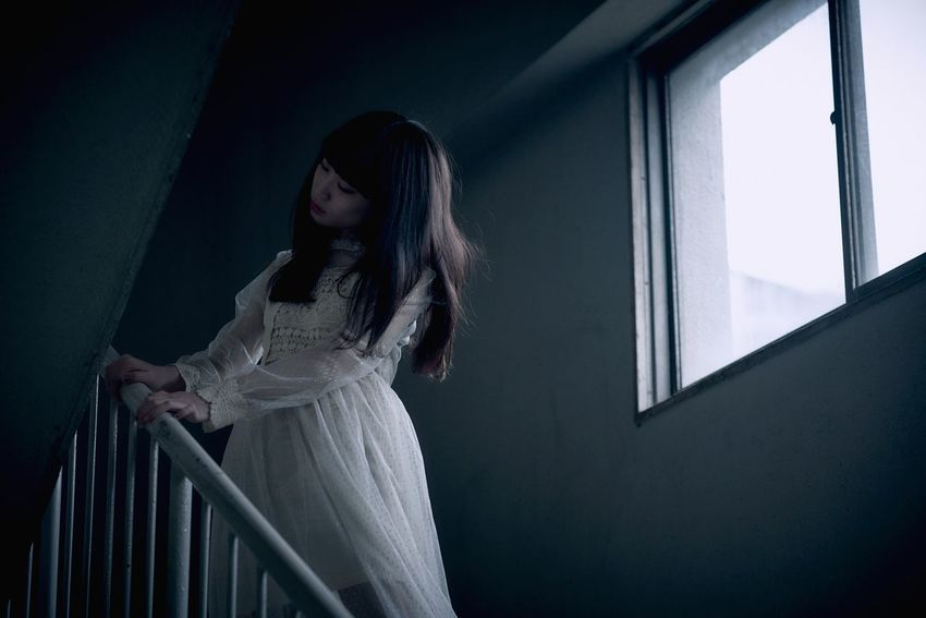 melancholy monday One Person Women Young Adult Young Women Three Quarter Length Adult Indoors  Fashion Dress Standing Looking Beautiful Woman Clothing Hairstyle Beauty Sadness Hair Long Hair Front View Contemplation