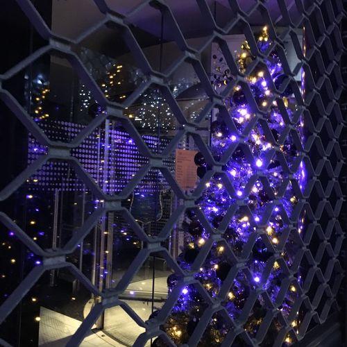 Nofilter Christmas Lights City Streetphotography Nightphotography Thehague  DenHaag Lahaya No People Night Illuminated Window Shopping Windows Bars Purple Lights EyeEm Gallery Christmas Tree