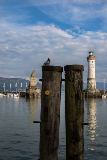Beauty In Nature Blue Sky Bodensee Bodenseeregion Cloudy Day Idyllic Lindau Lindau Bodensee Lindau Insel Mountain View Mountains Nature No People Outdoors Sea Sea And Sky Seaside Sunlight Tranquility Water Battle Of The Cities Adapted To The City