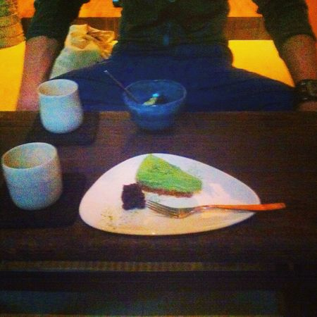 Lovely oyatsu in an ochanoma! sencha, morimachi, adzuki ice cream, matcha cheesecake🍵🍡 Green Tea Japanese Food Berlin Matcha