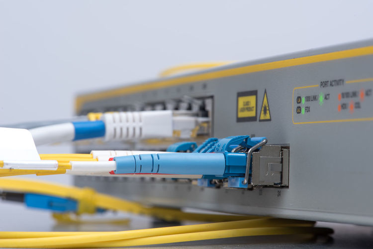 Close-up of cables on appliance