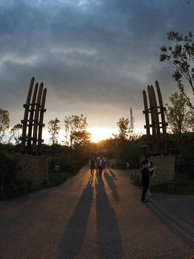 Zoo From My Point Of View Walking Around Relaxing Taking Photos EyeEm Animal Lover Sunset Closing Time Fisheye 北門から帰る時、あまりに夕陽が綺麗で(笑)。