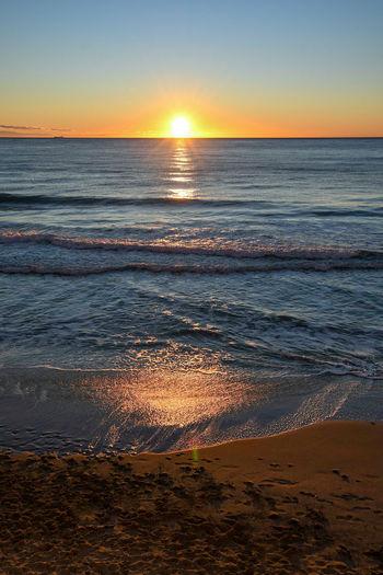 sunrise on the sea Sea Sunrise Beach Sunrise Sunset Sunrise Serenity Travel Sunrise Sunset Beach Sea Horizon Over Water Scenics Sun Nature Beauty In Nature Water Tranquil Scene Reflection Sky Tranquility Sand Sunlight Travel Destinations Idyllic Landscape Dramatic Sky Outdoors