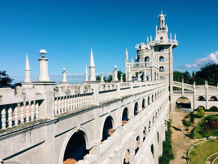 Exterior Of Church Against Clear Blue Sky