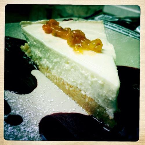 Eating A Cheesecake