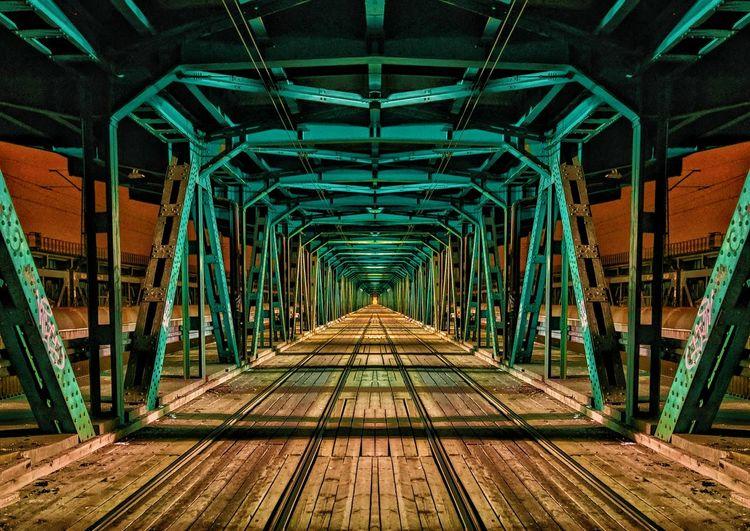Empty railway bridge