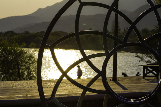 On the eye o the lens Silhouette Outdoors Sky Water Sunset Nature Lake Jalisco Mexico Gold Colored Chapala Lake Ajijic