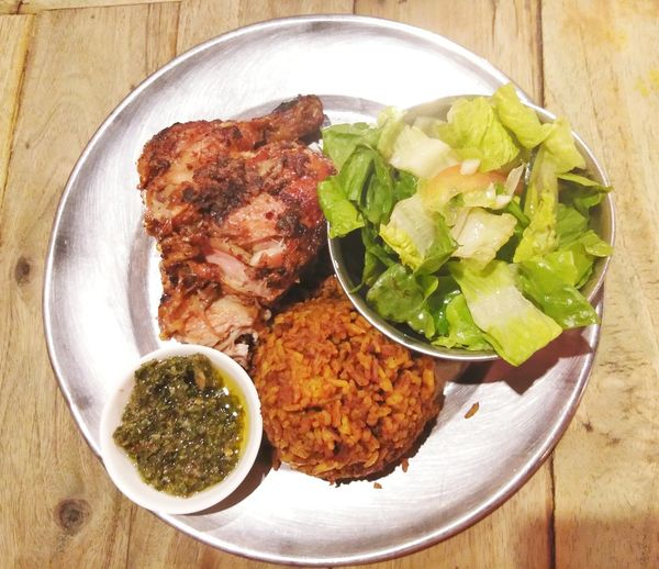 chicken roast 😊 Pollo Mexican Mexican Food Chimichurri Damngood Plate Meat High Angle View Table Close-up Food And Drink Serving Dish Served Prepared Food Rice