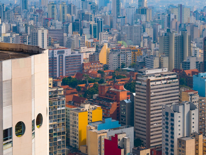 Panoramic view of sao paulo city downtown.
