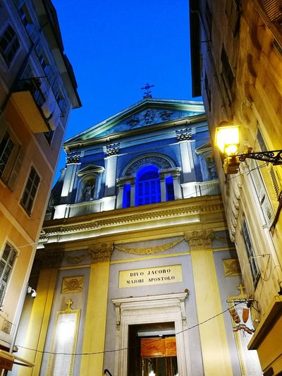 Nice Old Town Church Du Gesu Saint Jacques Le Majeur night Night Light