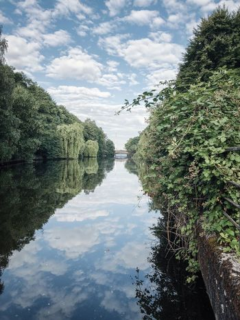 Water Sky Plant Tree Reflection Nature Cloud - Sky Scenics - Nature No People Outdoors Waterfront Beauty In Nature Tranquility Green Color Built Structure Day Lake Growth