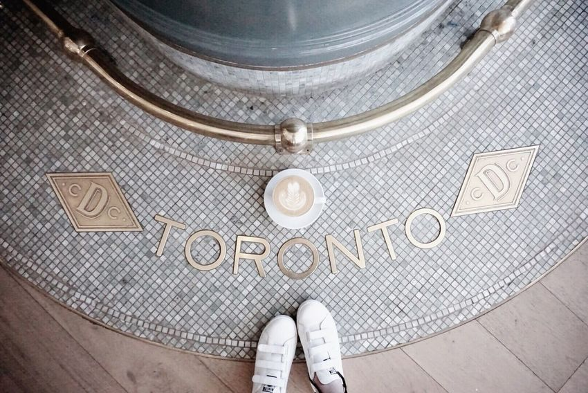 The new location of Dineen coffee is stunning💕 Fashion Photography Toronto Canada Torontophotographer Toronto Coffee Cafe Latte Shoes Interior Design