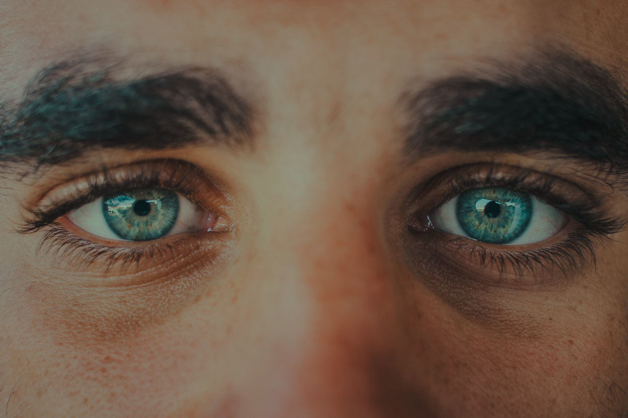Close-up portrait of human eyes