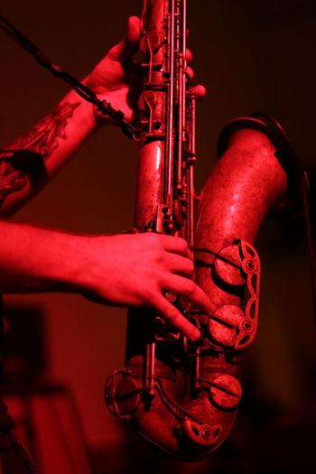 Saxophone Musical Instrument Jazz Music Arts Culture And Entertainment Human Body Part Musical Equipment Jazz Jazz Concert Playing Musician Rock Music Close-up Indoors  Landmark Bar Landmark Bergen Bergen Kunsthall Moster Kjetil Moester EyeEmNewHere