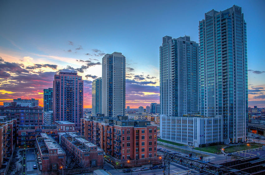 Sunset over Fulton River District. Chicago Sunset Sky_sultans Chicago Architecture Sunset_collection Sky_collection