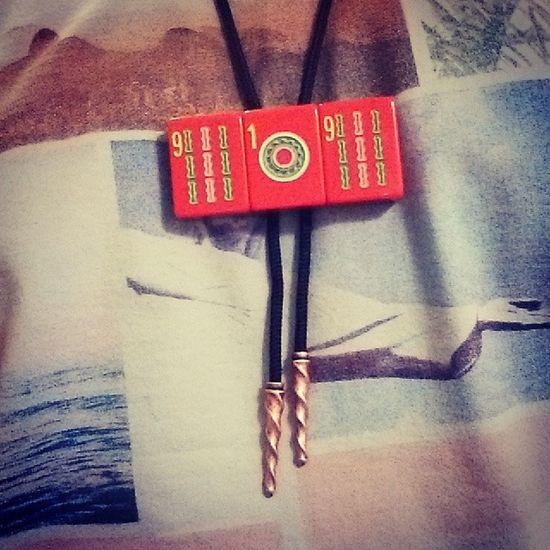 Red 919 . Copper bolo tips. Handmade for Matt Morelock. One of one. BolosByShep