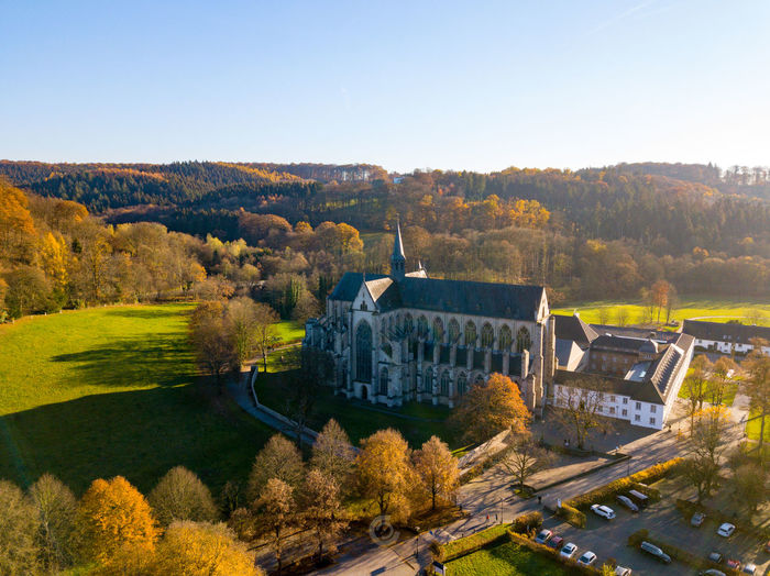 The wonderful Altenberger Dom in Odenthal Dome Church Love Odenthal Altenberger Dom Tree Autumn Sky Architecture Landscape Catholicism Cathedral