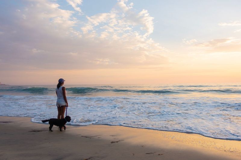 girl with dog on beach at sunset Beautiful Evening Beautiful Day Woman With Dog Sri Lankan Woman South Asian Woman San Diego La Jolla Sunset Dog Woman EyeEm Selects Beach Sea Land Beauty In Nature Woman With Dog Sri Lankan Woman South Asian Woman San Diego La Jolla Sunset Dog Woman EyeEm Selects Beach Sea Land Beauty In Nature A New Beginning