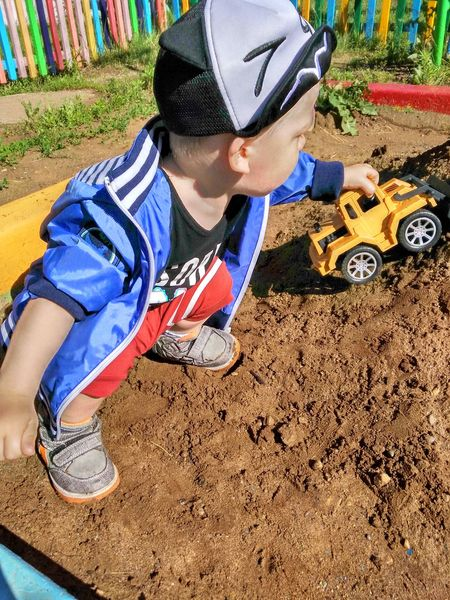 Leisure Activity Day Real People Lifestyles Детский сад песочница Богданчик Boys сынуля♥
