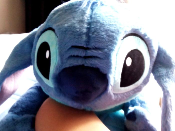 Stich Disneyland Blue Blackeyes😱😝😳 Taking Photos this ia my stuffed animal stich. He is all blue.