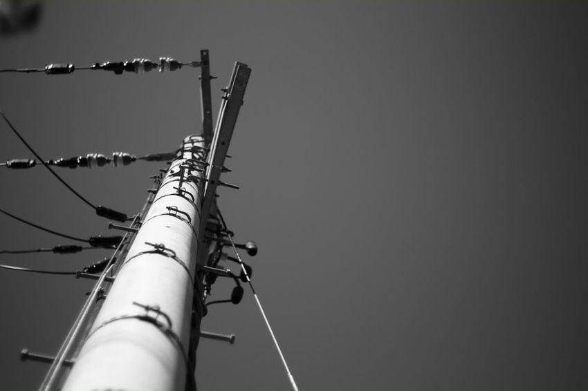 Blue sky My Photography X-Pro1 Fujifilm X-Pro1 Japan Japanese  Voigtlnder Voightlander Nokton Classic 40mm/F1.4 SC EyeEm Best Shots - Black + White B & W Photography Black And White Sky_collection Sky Porn Sky High Telephone Pole Telephone Poles Black & White Black And White Photography B & W