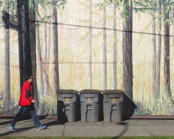 Wallpainting RedShirt  Walk This Way Street Photography Vancouver