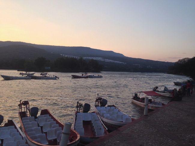 Cañón del Sumidero 🌸 EyeEm Nature Lover Chiapas, México EyeEm Best Shots Mountain Sunset Water Nautical Vessel Nature Transportation Outdoors