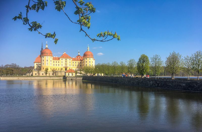 Moritzburg Castle, Saxony, Germany Famous Famous Place Sightseeing Sight Germany Saxony Nobody Day Tourism Moritzburg  Castle Building Travel History Travel Destinations Blue Clear Sky Lake No People Day