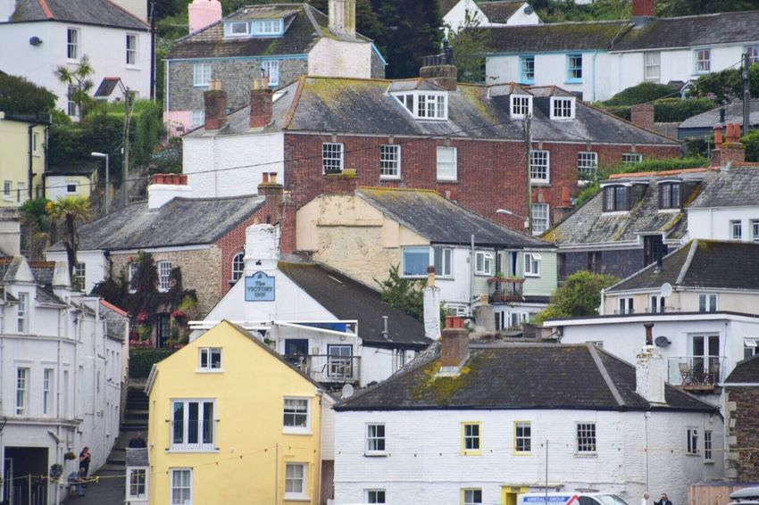 Kernow Cornwall Uk Building Exterior House Residential Building Community Cornish Town Architecture Street Built Structure Outdoors Town No People Roof Day Community Sky Paint The Town Yellow