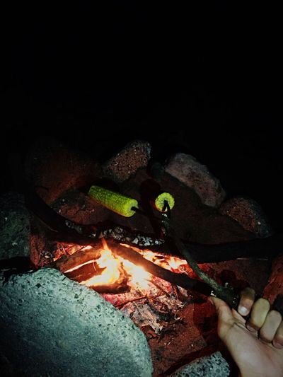 Fire Sea Night Nature Sand Lunch