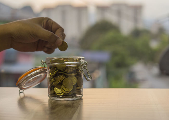 Accounting Coin Coins Concept Finance Glass Glass - Material Hand Holding Ideas Kuala Lumpur Malaysia Money Savings Selective Focus Syiling