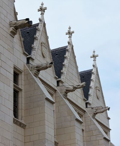 Gargoyles Gargoyles And Grotesques Water Spouts Architecture Building Exterior Built Structure Day Gargoyles Low Angle View No People Outdoors Sky Waterspouts