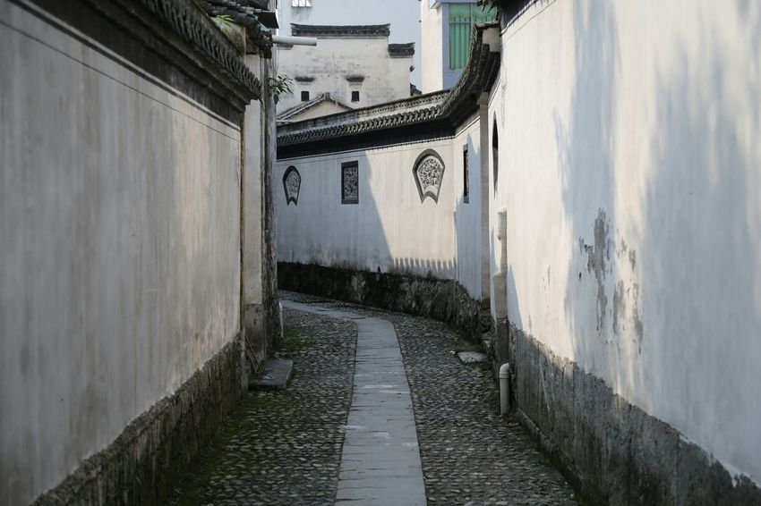 The Purist (no Edit, No Filter) My Unique Style Old Town Path Stone Wall Old Buildings Anhui,China