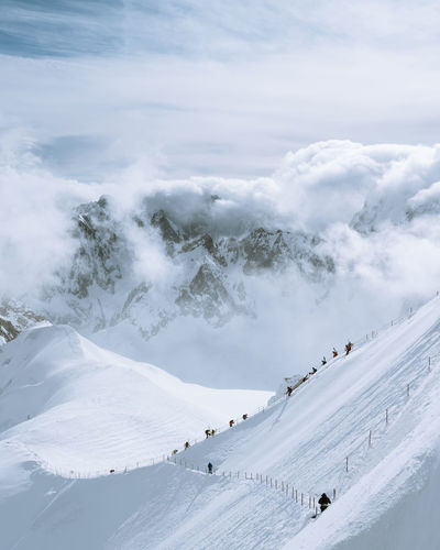 Check out my prints at https://simonmigaj.com/shop/ and visit my IG http://www.instagram.com/simonmigaj for more inspirational photography from around the world. Mountains Nature Alps Aiguille Du Midi Mont Blanc Blue Travel Climbing Extreme Weather Winter Mont Blanc Mountain Snow Ski Holiday Cold Temperature Winter Snowboarding Ski Lift Adventure Snowcapped Mountain Polar Climate Deep Snow Powder Snow Ski Resort  Rocky Mountains