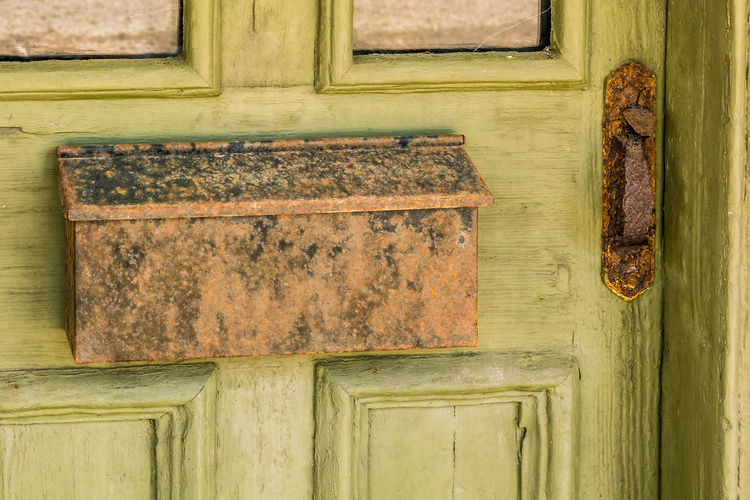 Close-up of old weathered door