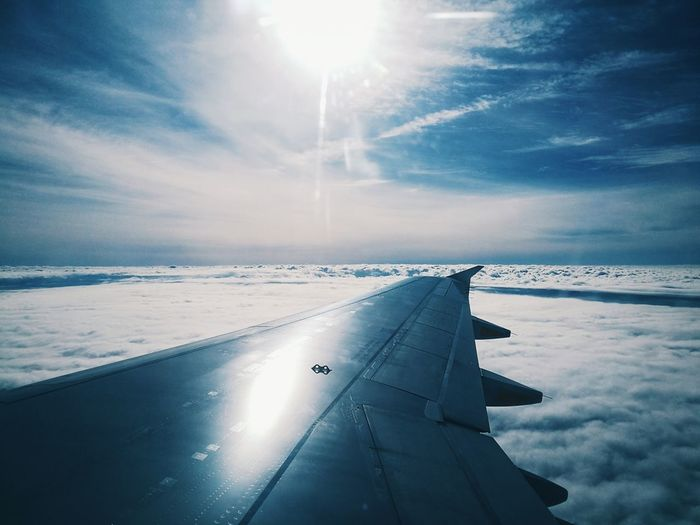 From the skies / Desde el cielo. Avion Cielo Paraíso Azul Volando Aeronautica Sol Skies Sky Heaven Airplane Commercial Airplane Blue Sun Sunlight Journey Flying Aerospace Industry Weather Aerial View It's About The Journey 2018 In One Photograph My Best Photo Humanity Meets Technology