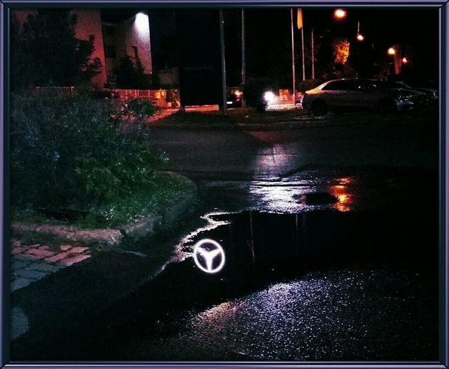 Taking Photos Nightphotography Nightlights Mercedes Star Reflected Glory Urban Reflections Open Edit