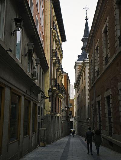 Historical Building Madrid Alley Architecture Building Building Exterior City Lifestyles Old City Street Tourist Destination