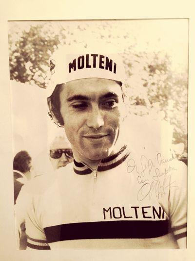 The Week Of Eyeem un grande del Ciclismo un vero Campione Eddy Merckx foto con dedica 1973, il mio Idolo Molteni The Week On Eyem