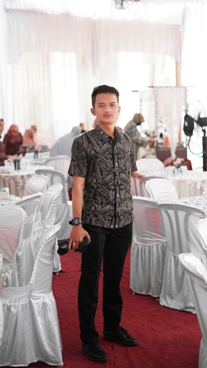 This is a photo of myself, at the pre-wedding ceremony