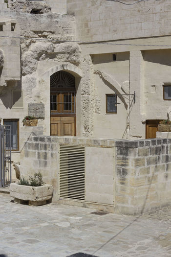 Matera Italy Basilicata South Italy Nobody UNESCO World Heritage Site House Architecture Built Structure Building Exterior Building Window Residential District No People Day Outdoors City Wall - Building Feature Old Town Nature Wall Sunlight Door Entrance History Place