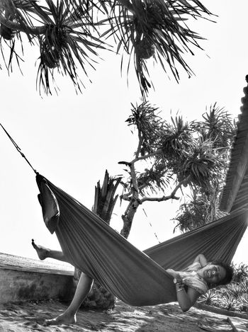 Hamak Beach Black & White Bali