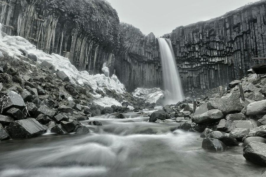 The unique Waterfall Svartifoss Iceland Wanderlust