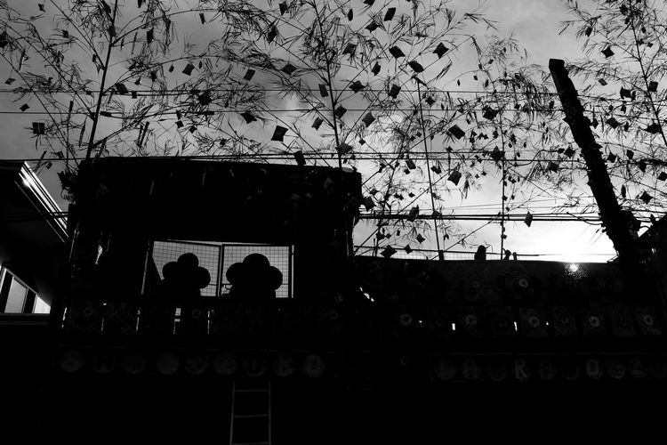 Agawan Festival Architecture Black & White Black & White Photography Building Exterior Low Angle View Men Real People Silhouette