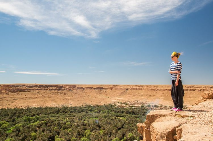 Africa Day Landscape Looking At View Nature Outdoors Sky Standing Tranquil Scene Vacations Young Woman