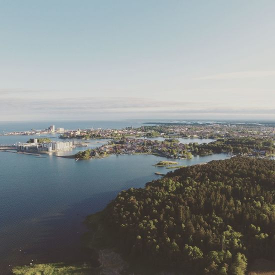 Cityscape City Horizon Over Water Urban Skyline Aerial View Birdview DJI Phantom 3 Bridge Clear Sky Nature Scenics Beautiful Dronephotography The Sky Is The Limit