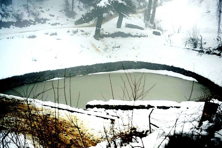 Ponds Snowfall Lonely Pond
